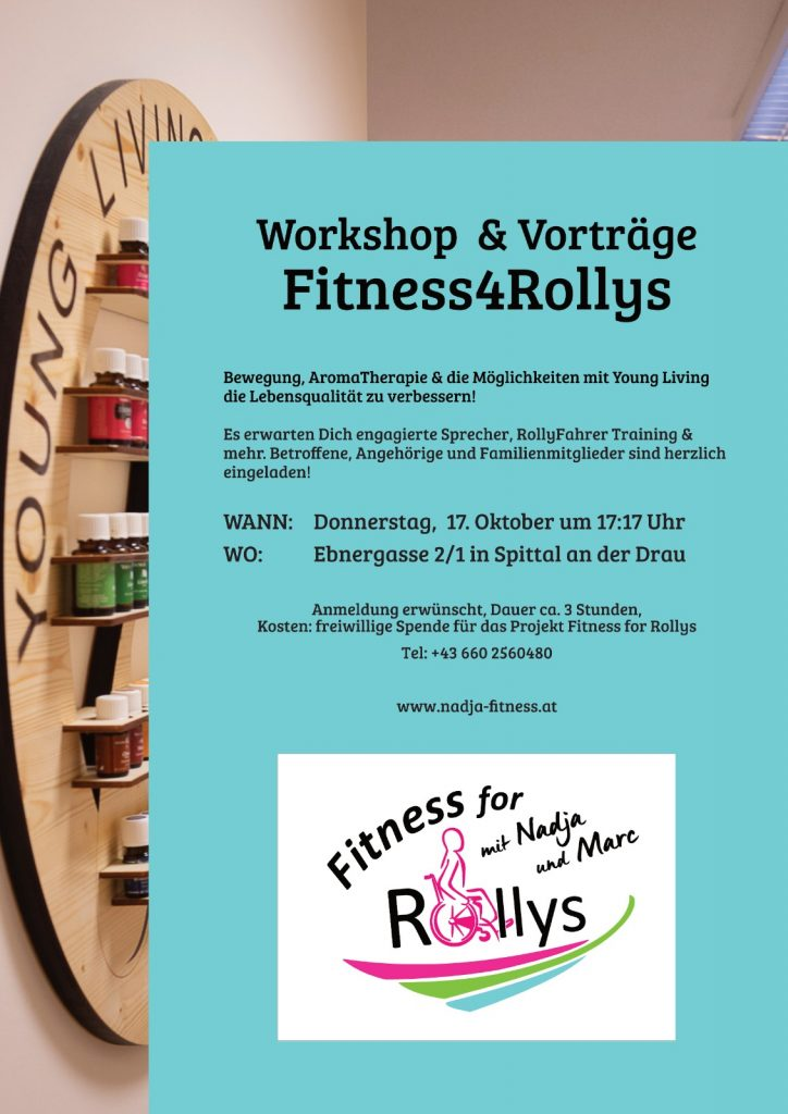 """Workshop & Vorträge """"Fitness for Rollys"""" @ Nadjas Fitnesswelt"""